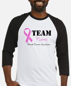 Team Pink Breast Cancer Baseball Jersey
