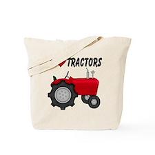 I Love (Heart) Tractors Tote Bag