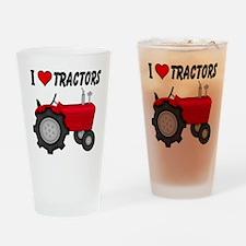 I Love (Heart) Tractors Drinking Glass