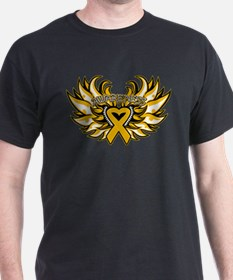 Appendix Cancer Heart Wings T-Shirt