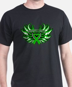 Bile Duct Cancer Heart Wings T-Shirt