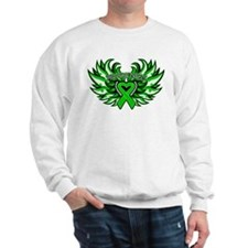 Bile Duct Cancer Heart Wings Sweatshirt