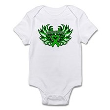 Bile Duct Cancer Heart Wings Infant Bodysuit