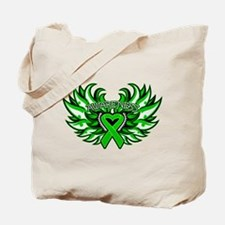 Bile Duct Cancer Heart Wings Tote Bag