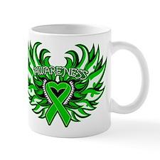 Bile Duct Cancer Heart Wings Mug