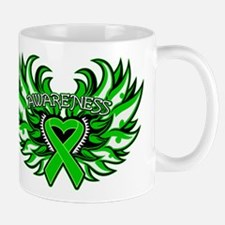 Bile Duct Cancer Heart Wings Mug