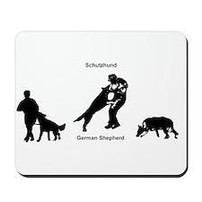 German Shepherd 3 phases Mousepad