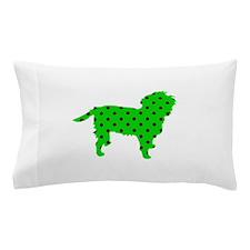 Green Polka Affen Pillow Case
