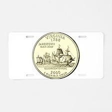 Virginia Quarter 2000 Basic Aluminum License Plate