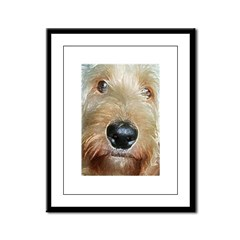 big black squishy nose.jpg Framed Panel Print