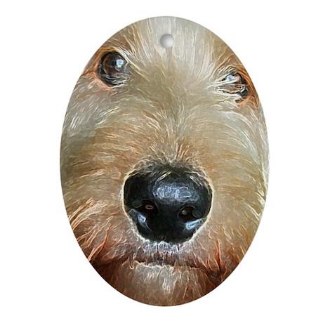 Squishy Nose : big black squishy nose.jpg Ornament (Oval) by valerievalera