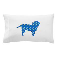 Blue Polka Affen Pillow Case