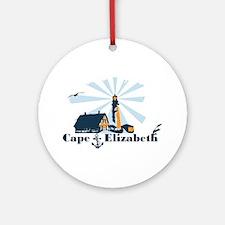 Cape Elizabeth ME - Lighthouse Design. Ornament (R