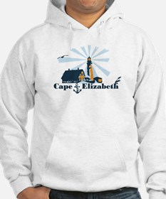 Cape Elizabeth ME - Lighthouse Design. Hoodie Sweatshirt