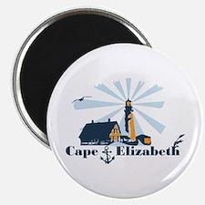 Cape Elizabeth ME - Lighthouse Design. Magnet
