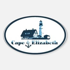 Cape Elizabeth ME - Oval Design. Decal