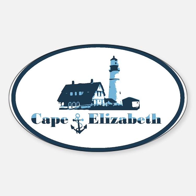 Cape Elizabeth ME - Oval Design. Decal