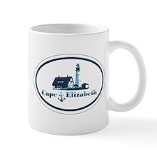Cape Elizabeth ME - Oval Design. Mug