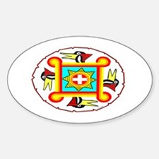 SOUTHEAST INDIAN DESIGN Sticker (Oval)