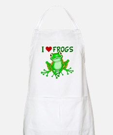 I Love (Heart) Frogs Apron