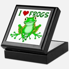 I Love (Heart) Frogs Keepsake Box