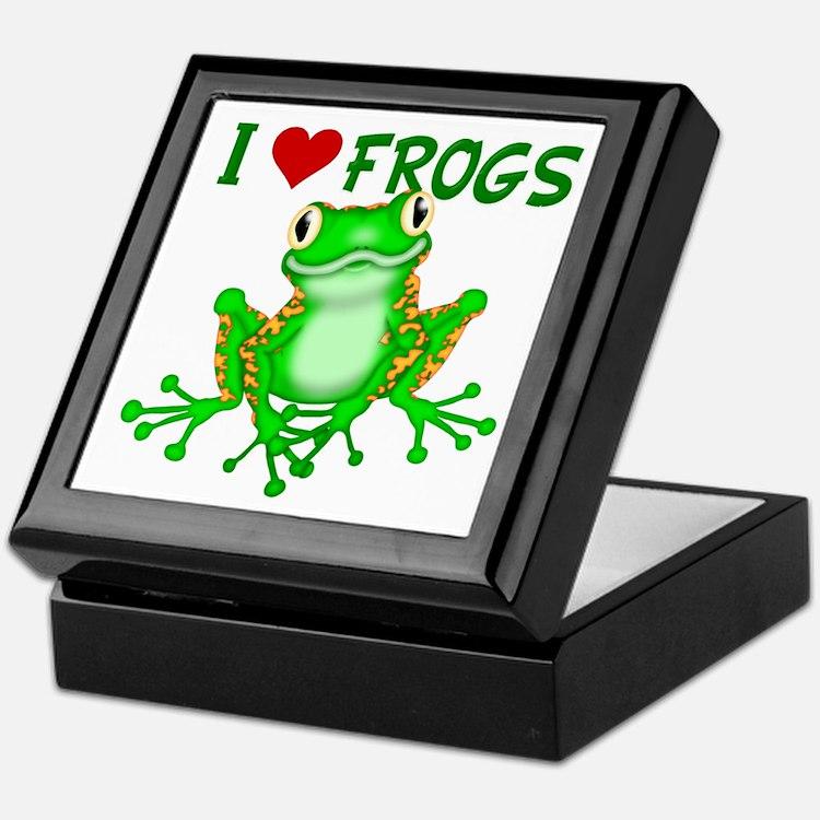 I Love (Heart) Frogs Keepsake Box