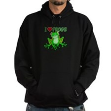 I Love (Heart) Frogs Hoodie