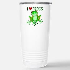 I Love (Heart) Frogs Stainless Steel Travel Mug