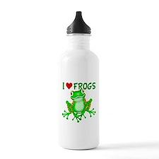 I Love (Heart) Frogs Water Bottle