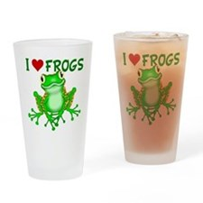 I Love (Heart) Frogs Drinking Glass