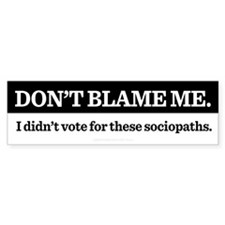 Dont Blame Me Stickers