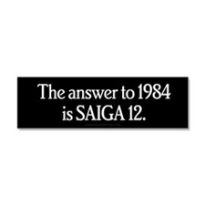 The Answer to 1984 Car Magnet 10 x 3