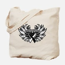 Carcinoid Cancer Heart Wings Tote Bag
