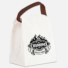 Chamonix Mountain Emblem Canvas Lunch Bag