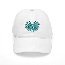 Cervical Cancer Heart Wings Hat