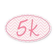 5k Pink Chevron Oval Car Magnet