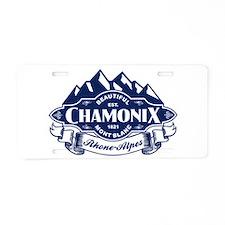 Chamonix Mountain Emblem Aluminum License Plate