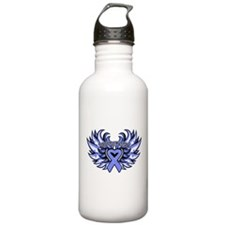 Esophageal Cancer Heart Wings Water Bottle