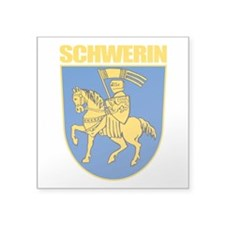 "Schwerin (gold).png Square Sticker 3"" x 3"""