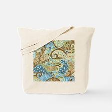 Blue Klimt Paisley Tote Bag