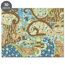 Blue Klimt Paisley Puzzle