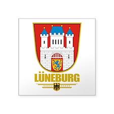 """Luneburg COA.png Square Sticker 3"""" x 3"""""""