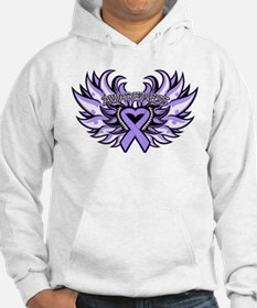 General Cancer Heart Wings Jumper Hoody