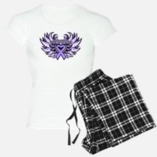 General Cancer Heart Wings Pajamas