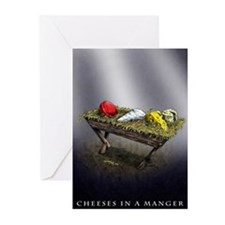 Cheeses in a Manger Christmas cards (Pk of 20)