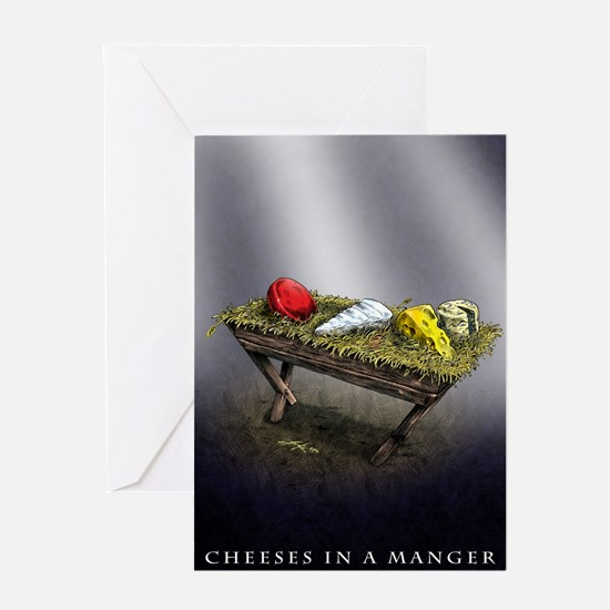 Cheeses in a Manger Christmas card