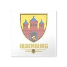"Oldenburg COA.png Square Sticker 3"" x 3"""