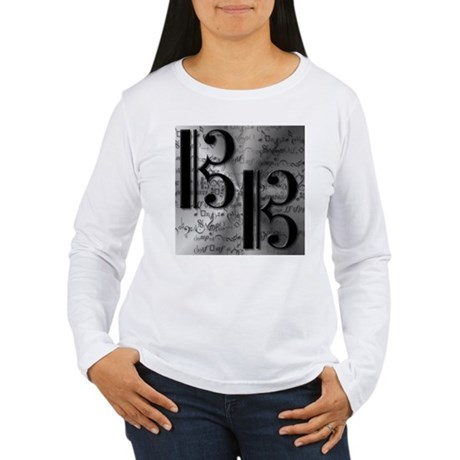 AltoClefCafePress.png Women's Long Sleeve T-Shirt