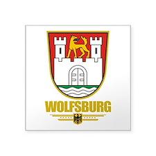 "Wolfsburg COA.png Square Sticker 3"" x 3"""