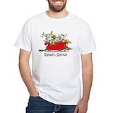 Christmas greyhound Mens Classic White T-Shirts